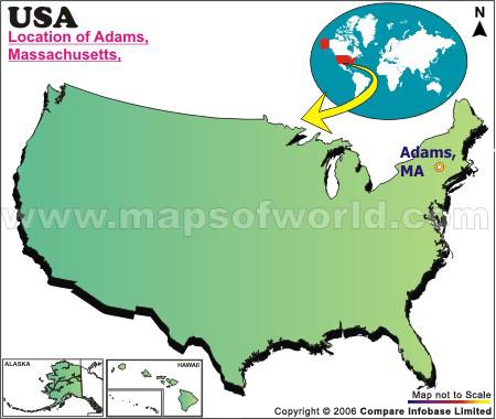 Where is Adams , Massachusetts