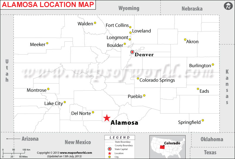 Where is Alamosa located in Colorado