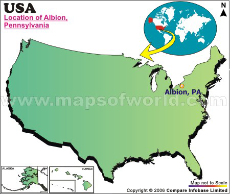 Where is Albion , Pennsylvania