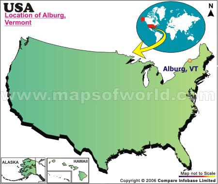 Where is Alburg , Vermont