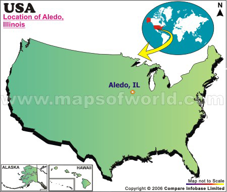 Where is Aledo , Illinois