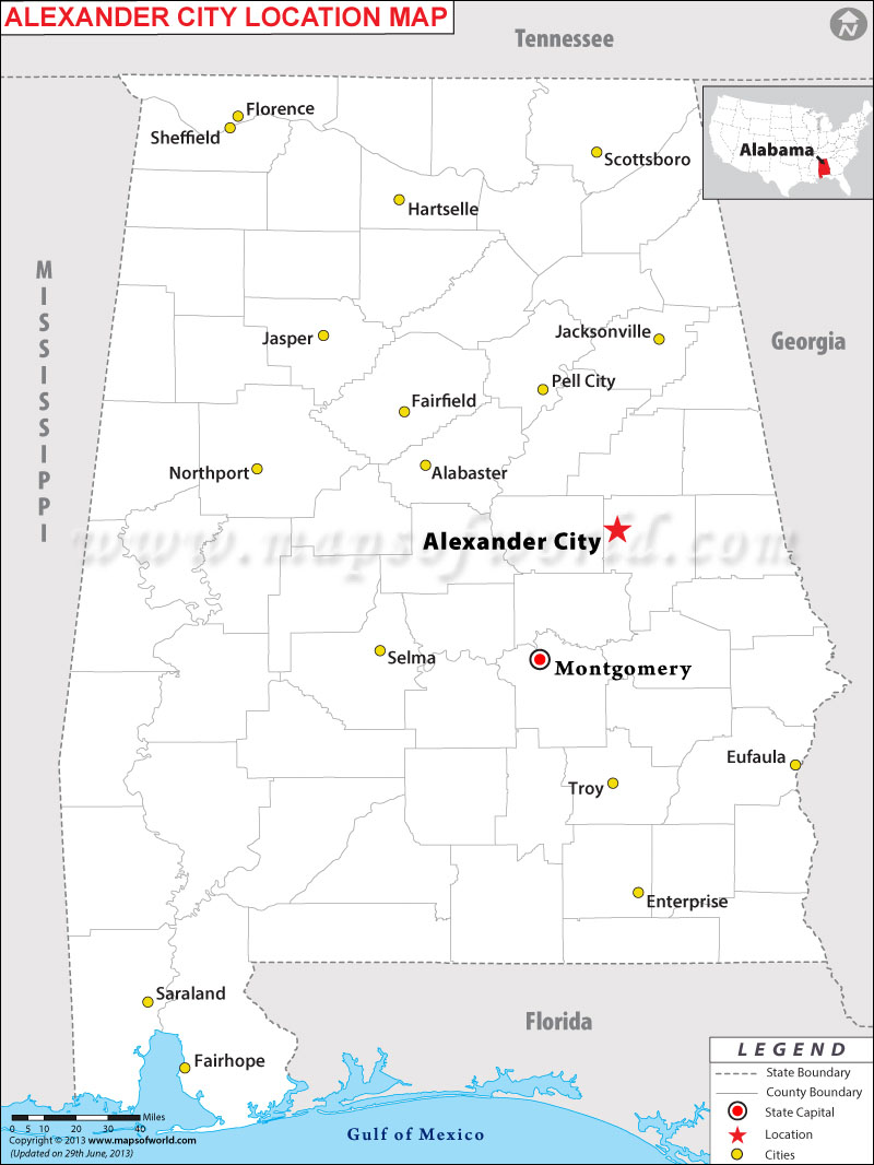 Where is Alexander City, Alabama
