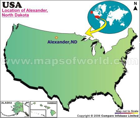 Where is Alexander , North Dakota