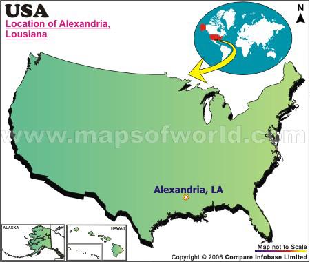 Where is Alexandria , Louisiana