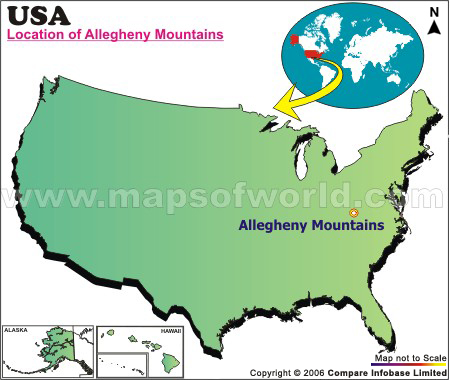 Where is Allegheny Mountains Located in West Virginia, USA