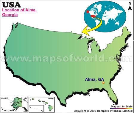 Where is Alma , Georgia