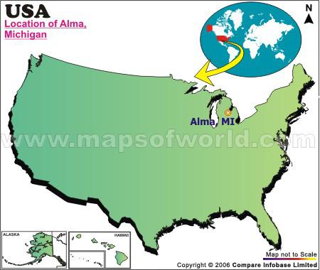 Where is Alma , Michigan