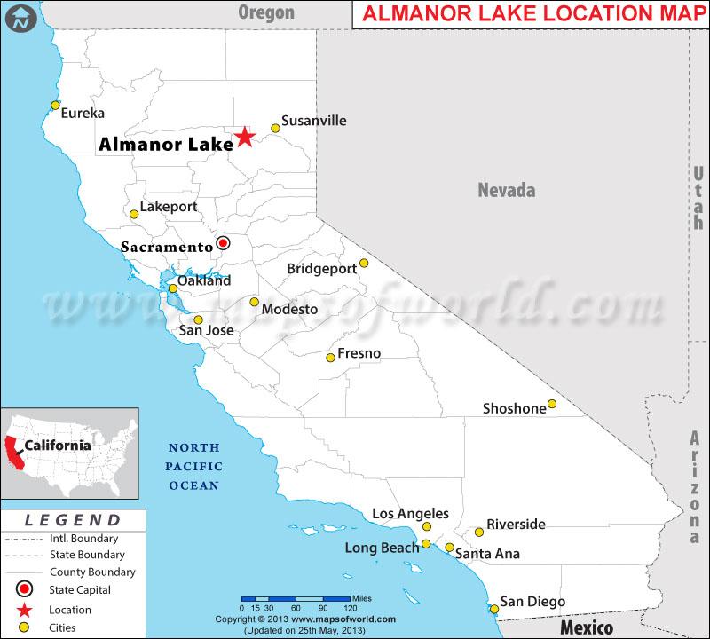 Where is Almanor Lake located in California