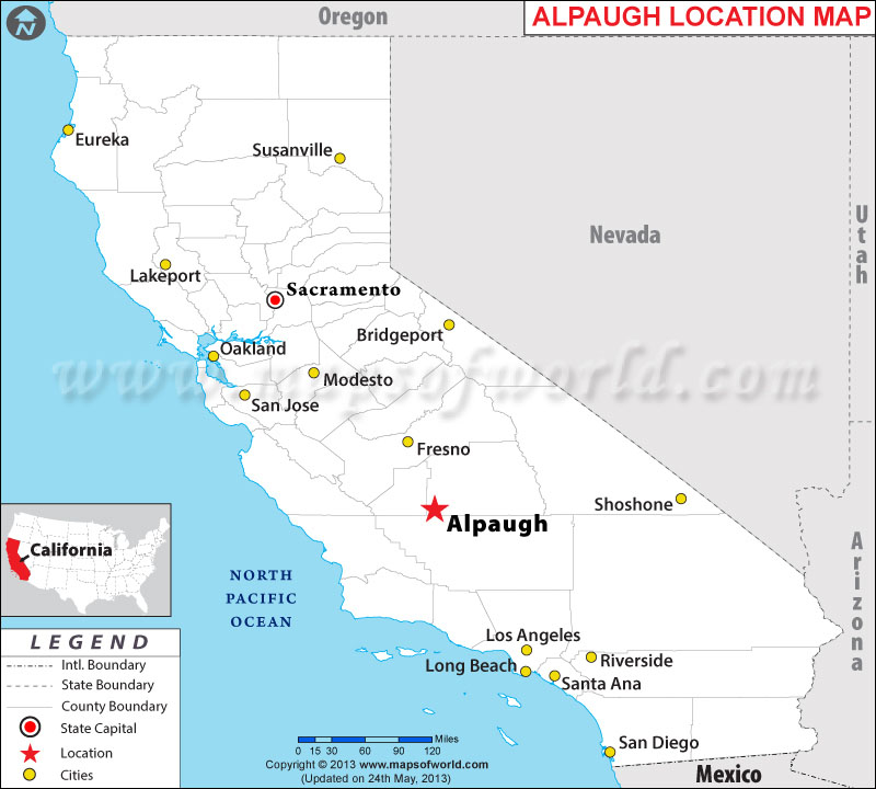Where is Alpaugh located in California