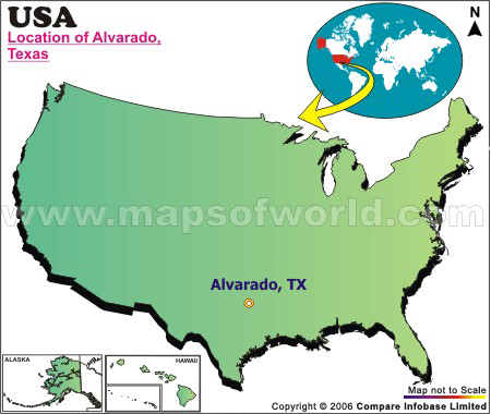 Where is Alvarado , Texas