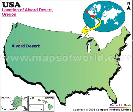 Where is Alvord Desert Located in Oregon, USA
