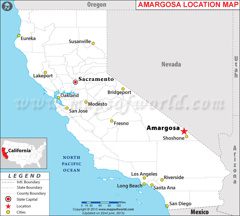 Where is Amargosa, California