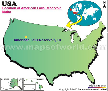 Where is American Falls Reservoir, Idaho