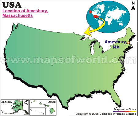 Where is Amesbury , Massachusetts
