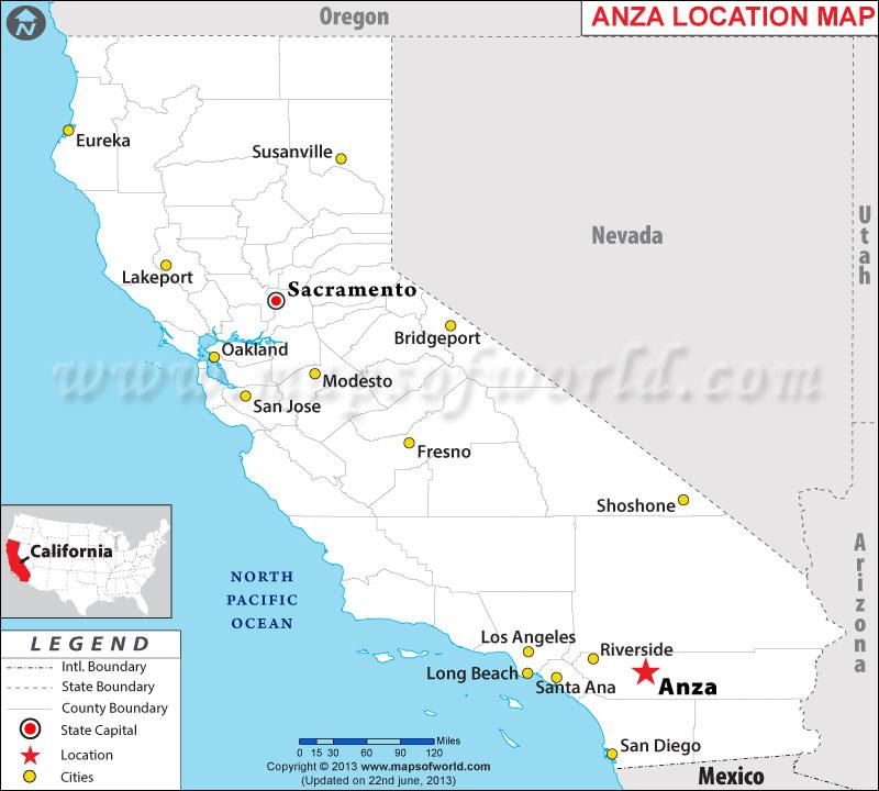 Where is Anza Located in California USA