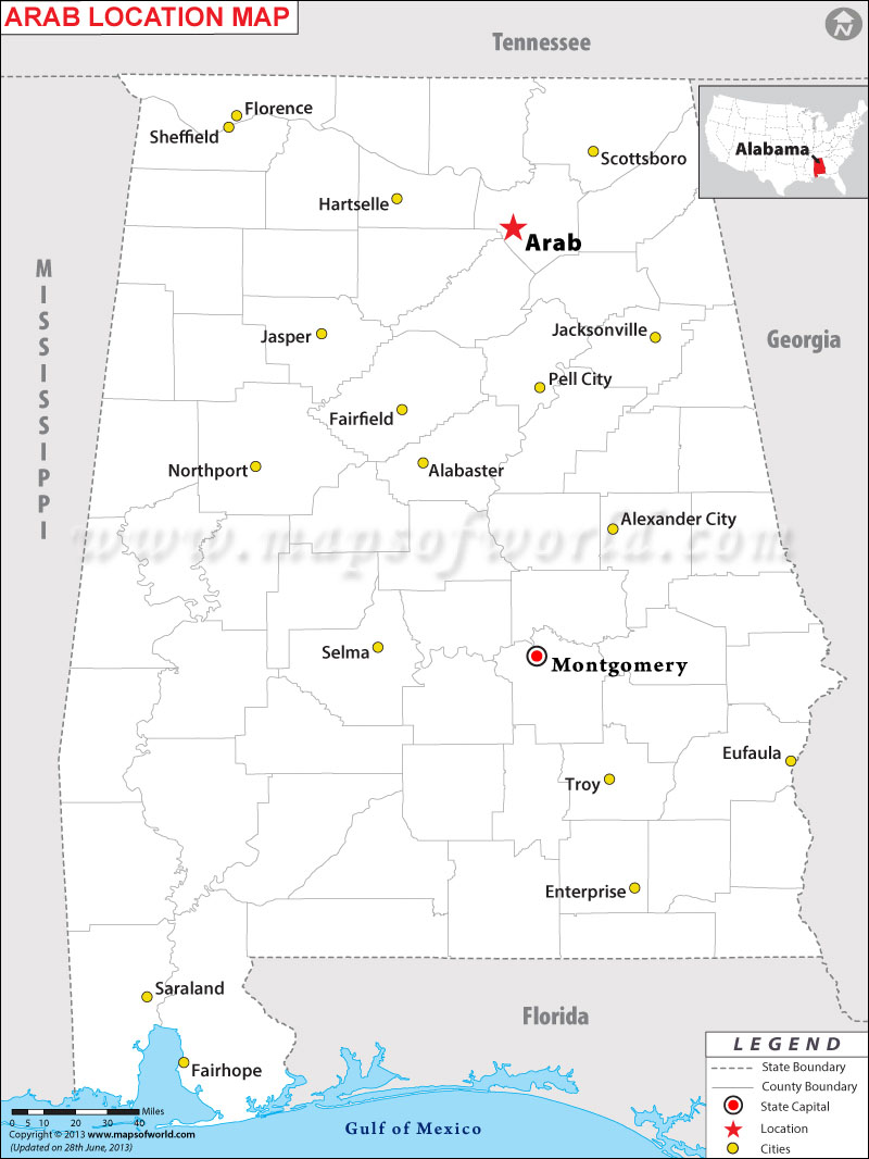 Where is Arab located in Alabama