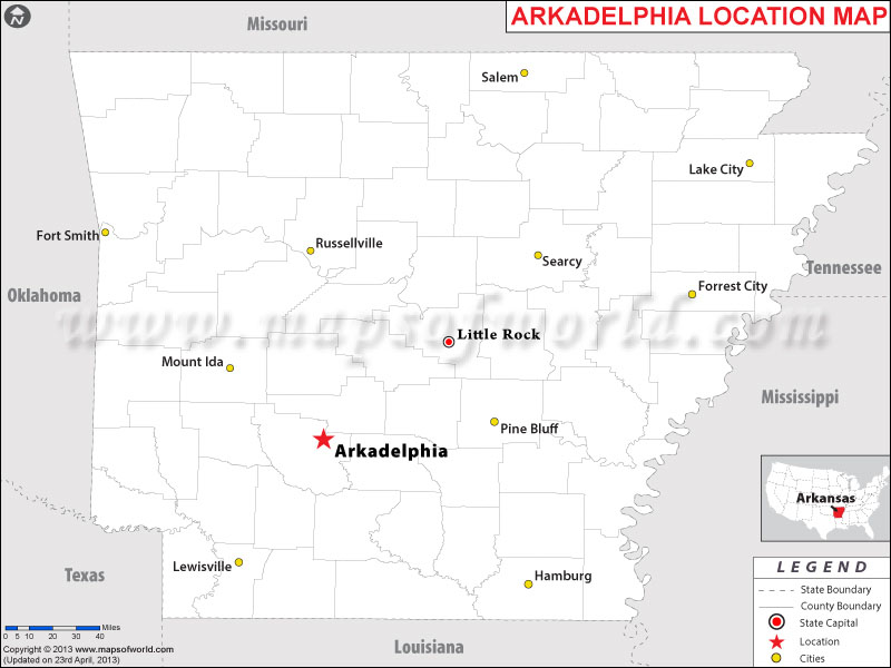 Where is Arkadelphia, Arkansas