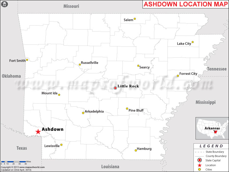 Where is Ashdown, Arkansas