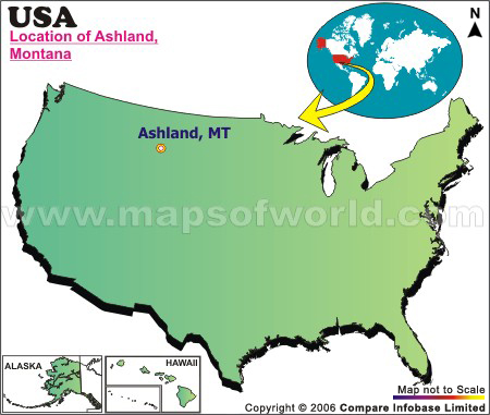 Where is Ashland , Montana