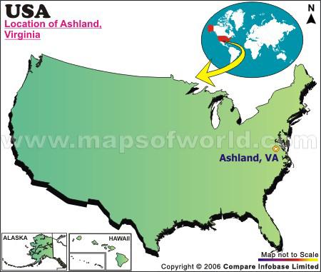 Where is Ashland , Virginia