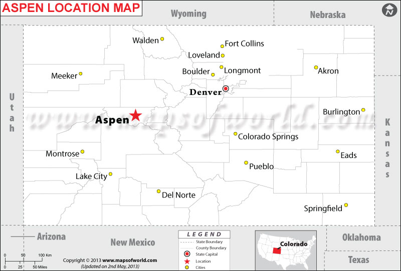 Where is Aspen Located in Colorado, USA