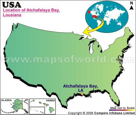 Where is Atchafalaya Bay , Louisiana