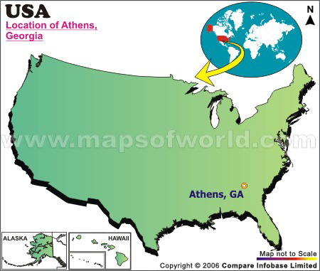 Where is Athens Located in Georgia USA
