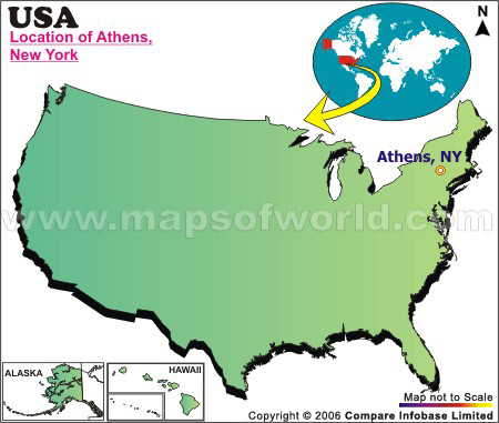 Where is Athens , New York