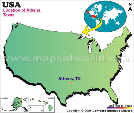 Where is Athens , Texas