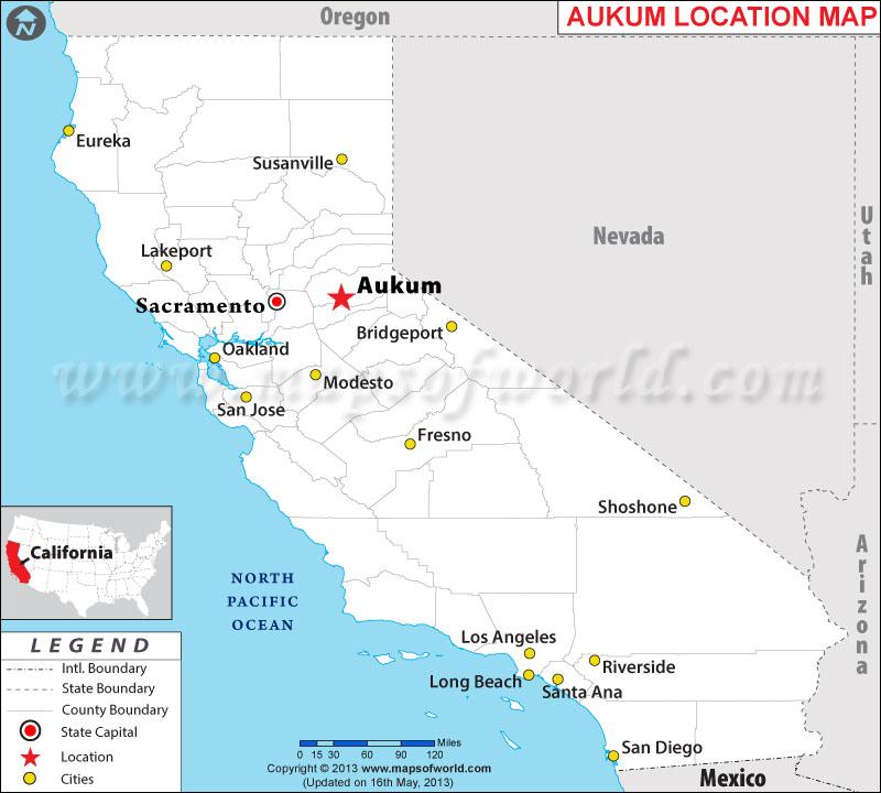 Where is Aukum located in California