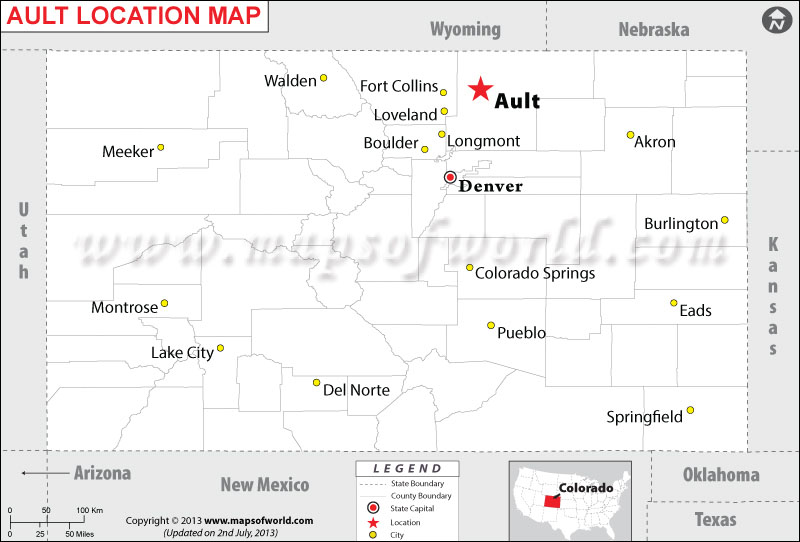Where is Ault Located in Colorado, USA