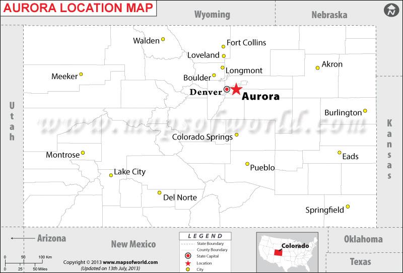 Where is Aurora located in Colorado