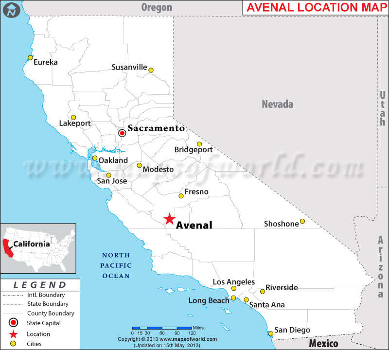Where is Avenal located in California