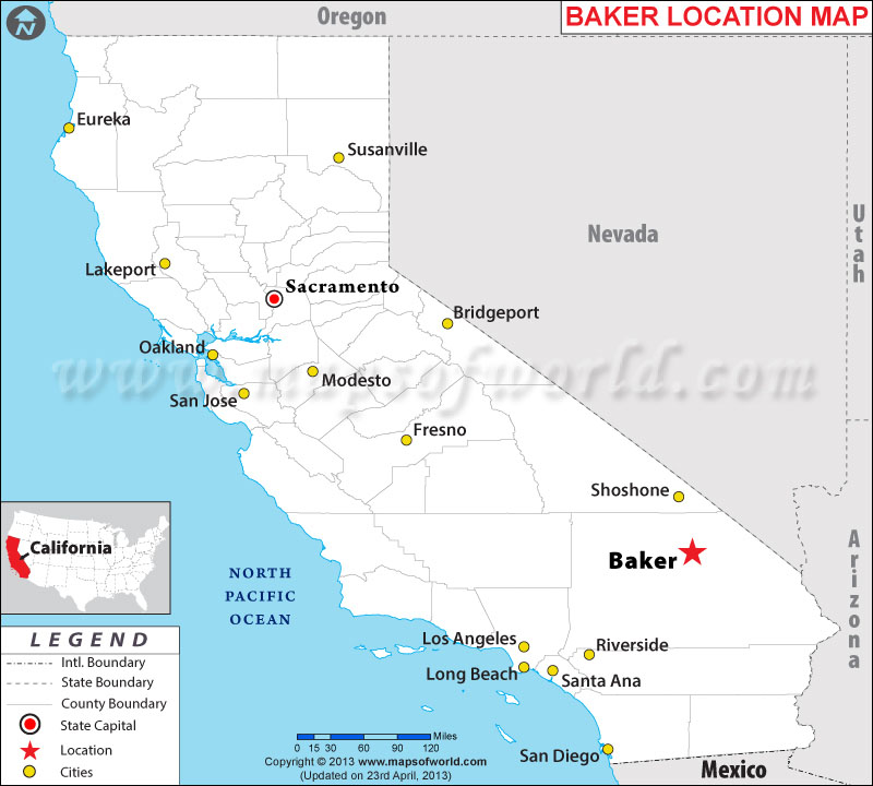 Where is Baker, California
