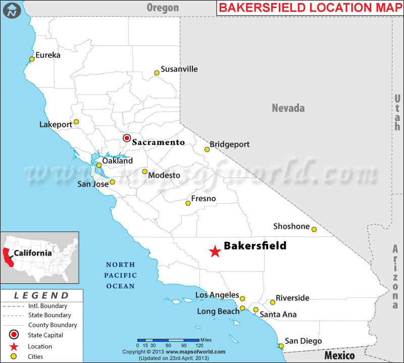 Where is Bakersfield, California