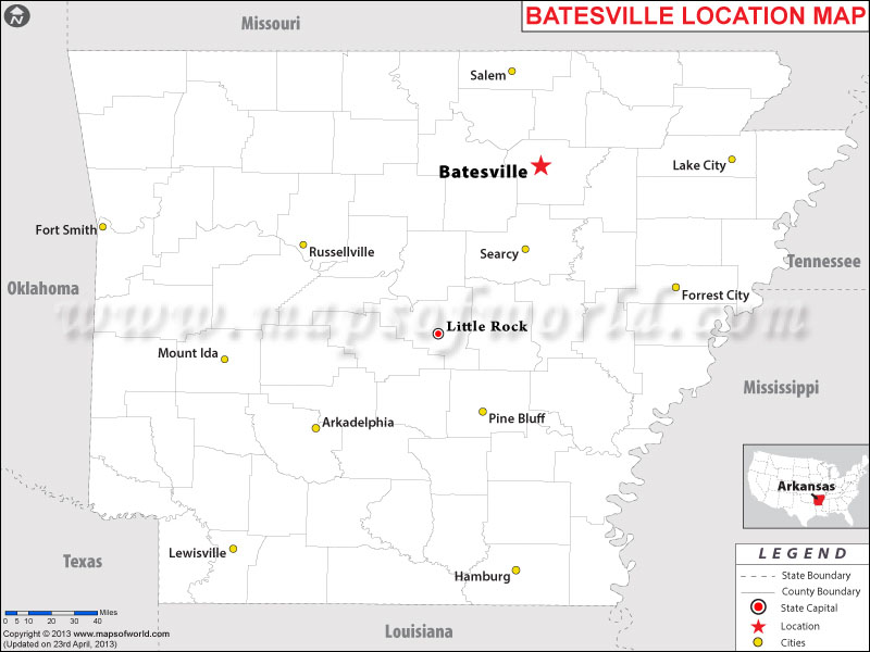 Where is Batesville, Arkansas