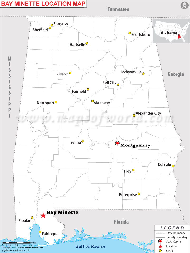 Where is Bay Minette located in Alabama