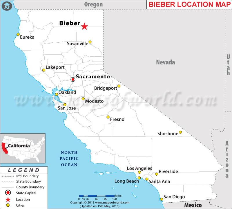 Where is Bieber located in California
