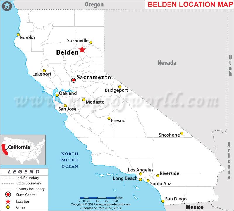 Where is Belden, California