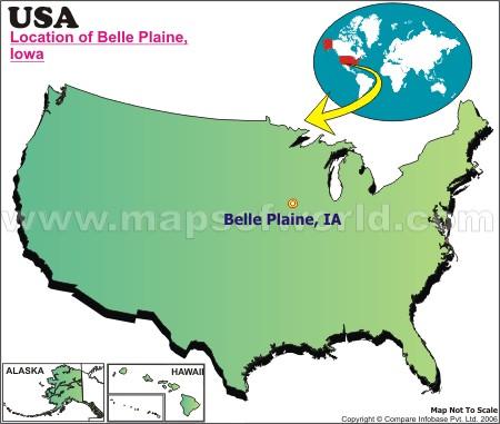 Where is Belle Plaine, Iowa
