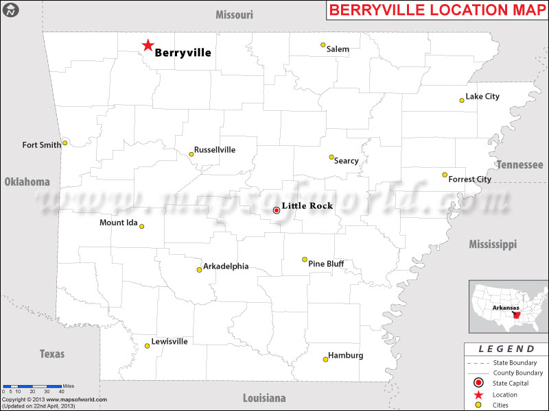 Where is Berryville, Arkansas