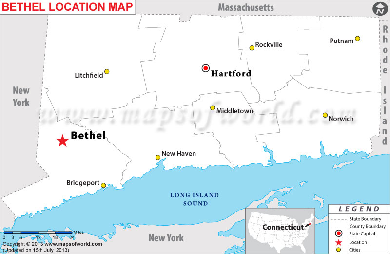 Where is Bethel, Connecticut