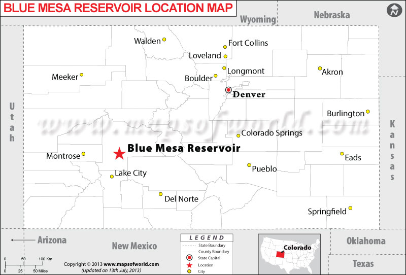 Where is Blue Mesa Reservoir located in Colorado
