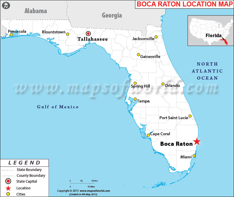 Show Me A Map Of Boca Raton Florida Where is Boca Raton, Florida | Where is Boca Raton, FL Located in USA
