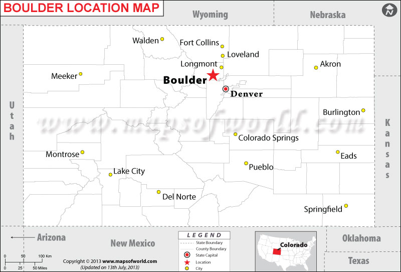 Where is Boulder located in Colorado