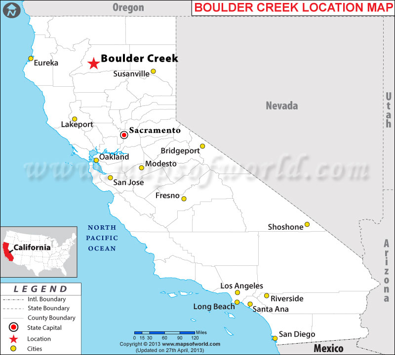 Where is Boulder Creek, California