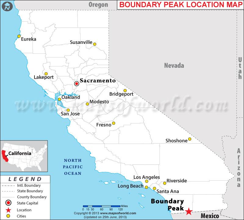 Where is Boundary Peak, California