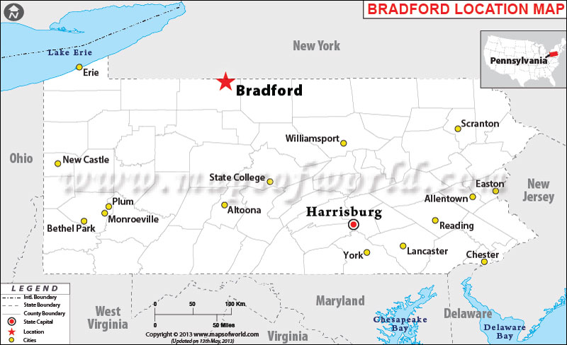 Where is Bradford, Pennsylvania