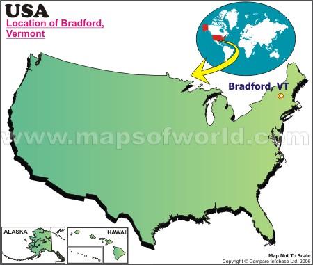 Where is Bradford , Vermont