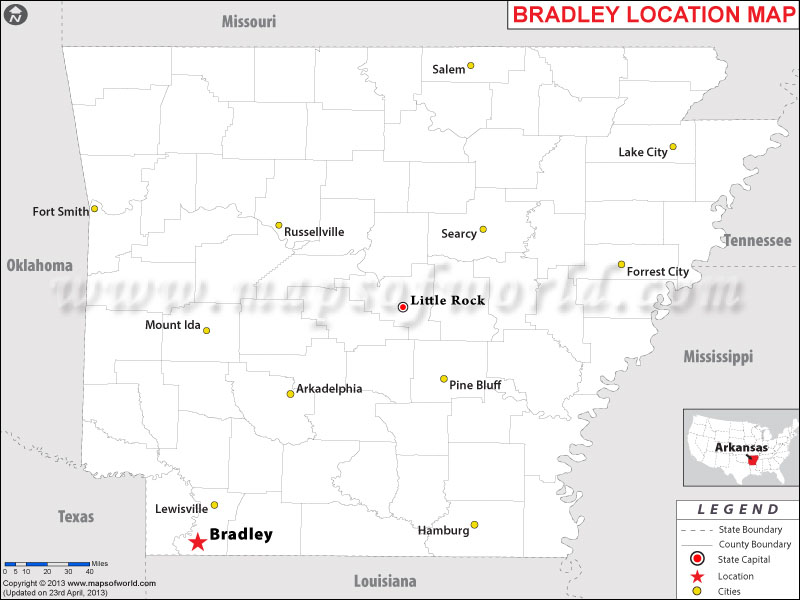 Where is Bradley, Arkansas
